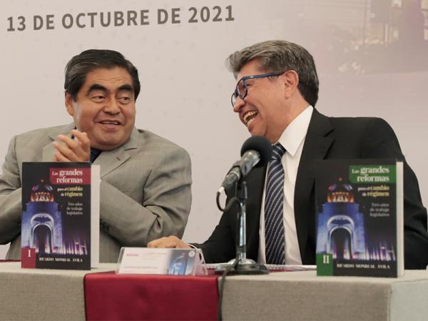"""presentación del libro """"Las grandes reformas para el cambio de régimen"""", del senador Ricardo Monreal"""