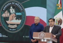 El Presidente López Obrador y el Gobernador Miguel Barbosa